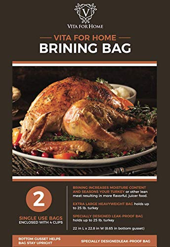 Brining Bags for Turkey - 2 Pack XL Double Zipper Extra Strength Thanksgiving Turkey Brine Bag