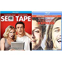 Unrated Special Edition Pineapple Express Blu Ray Set Comedy Seth Rogan & Sex Tape 2 Movies double feature bundle