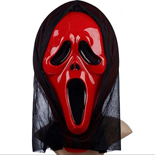 Holrea Halloween Ghost Mask Hooded Scary Horror Scream Halloween Costume Mask Full Face Mask Evil Creepy Party Cosplay Mask Props Creepy Scary Halloween Zombie Ghost Mask Outcry -