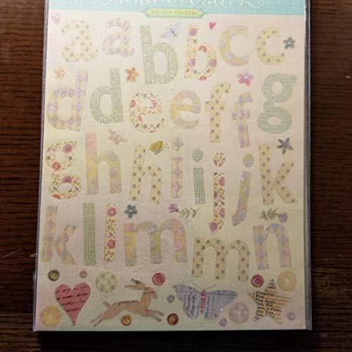 Brenda Walton Die Cut Stickers, Glitter Alphabet, Butterflies, Flowers, Stars, Animals Die Cuts Sticker Glitter