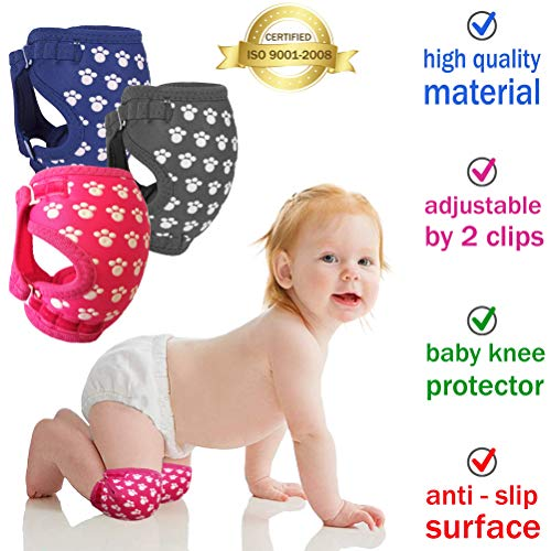 Professional Baby Knee Pads for Crawling, Easily Adjustable Anti-Slip Knee Pads, Soft and Breathable Baby Knee Pads, Knee Warmer and Protector for Baby Girls and Boys