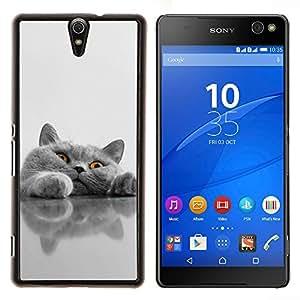 - Cat Cute Kitty - - Cubierta del caso de impacto con el patr??n Art Designs FOR Sony Xperia C5 Ultra Queen Pattern