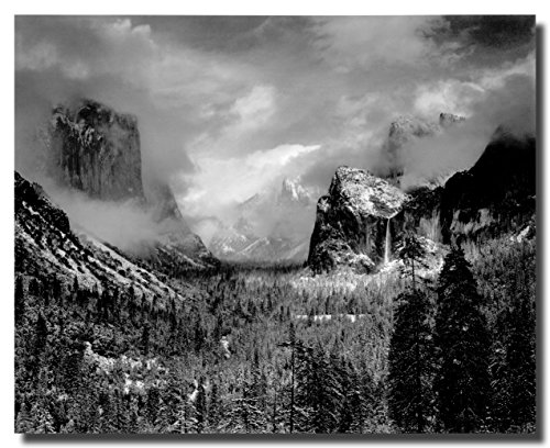 Ansel Adams Grand Teton Canvas Wall Art Beautiful Picture Prints living Room Bedroom Home Decor Decorations UnStretched And No Framed 16