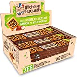 Michel et Augustin Chocolate French Cookie Squares | Chocolate Hazelnut, 18 Bars
