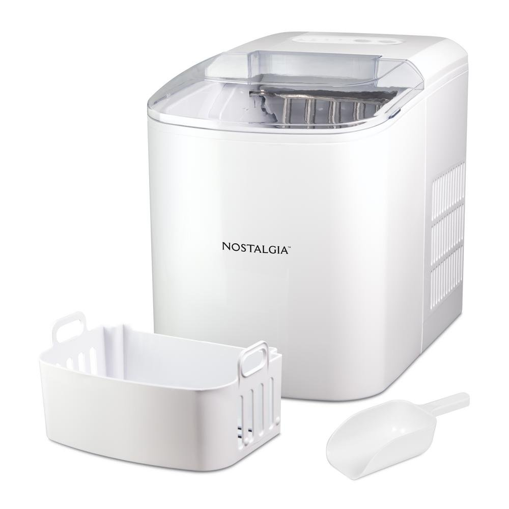 Nostalgia ICMWH 26-Pound White Automatic Ice Cube Maker