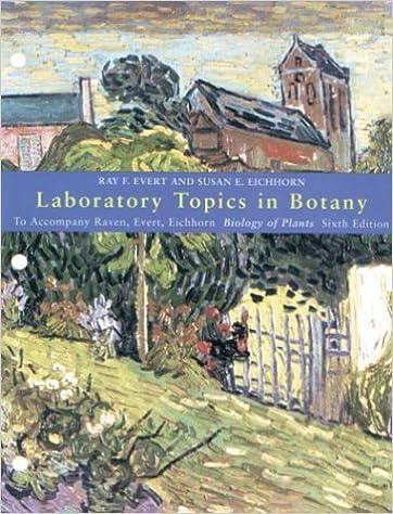 Amazon Com Laboratory Topics In Botany To Accompany Raven Evert Eichhorn Biology Of Plants 6e 9781572596054 Evert Ray F Eichhorn Susan E Books