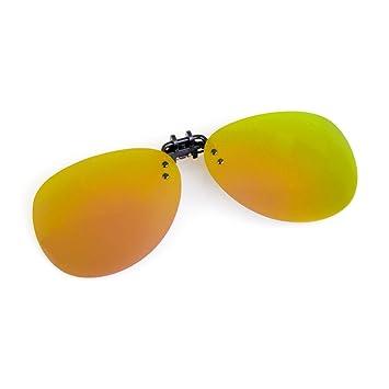 Cyxus aviador flash polarizado reflejado lentes clásico gafas de sol Gafas con clip [Anti reflejante