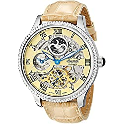 "Ingersoll Men's IN2713CR ""Ulzana"" Stainless Steel Automatic Watch with Beige Leather Band"