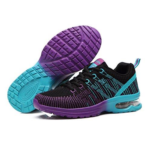 Running Sport Sneakers Up Wangjie Mesh Casual Lace Women Gym Shoes Black Shoes Walking pxwB8U