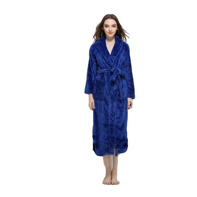 Señoras Albornoz Franela Larga Felpa Franela Pijama de Mujer, Suave Bata de Coral Vellón, Casa, Baño: Amazon.es: Ropa y accesorios