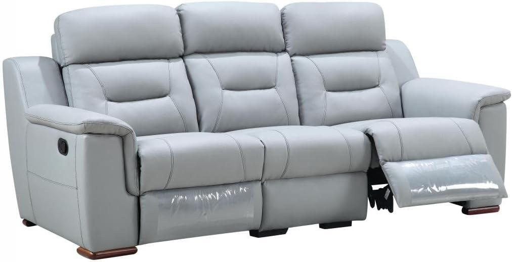Blackjack Furniture 9408 Walker Collection Leather Match Upholstered Reclining Living Room, Sofa, Gray