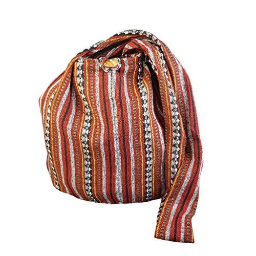 BTP! Thai Cotton Sling Bag Purse Crossbody Messenger Hippie Hobo Hand Woven Ikat A8