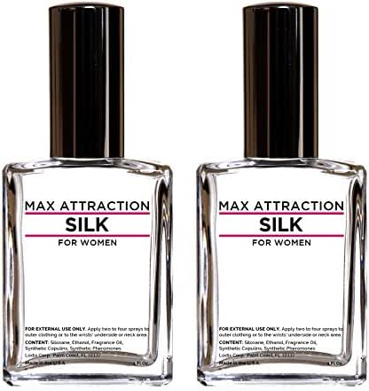 Max Attraction Silk Special - Pheromones to Attract Men (2 Bottles Special Offer Discount)