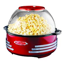 Nostalgia SP300RETRORED Retro Series 6-Quart Stirring Popcorn Popper
