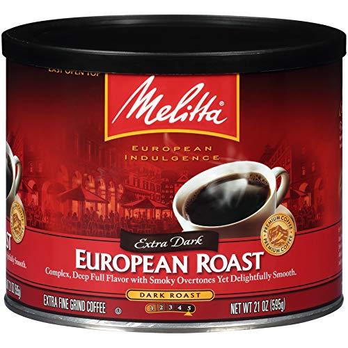 Melitta Coffee, European Extra Dark Roast, Ground, 21 Ounce