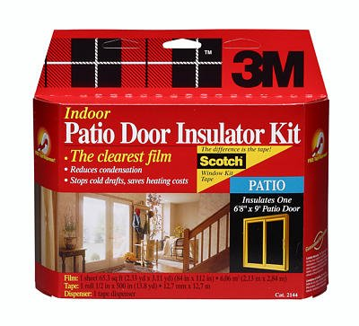 4 each: 3M Indoor Window Insulator Kit - Patio Door (2144W6) by 3M