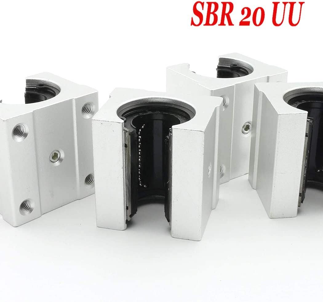 4 st/ücke SBR aluminium block linear motion kugellager rutsche block spiel f/ür SBR linearf/ührungsschiene SBR 20UU