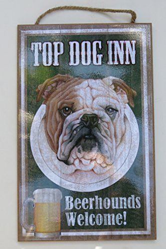 bulldog-fathers-day-gift-top-dog-inn-beer-hound-sign-10-x-15-wood-sign-wall-decor-browwhite