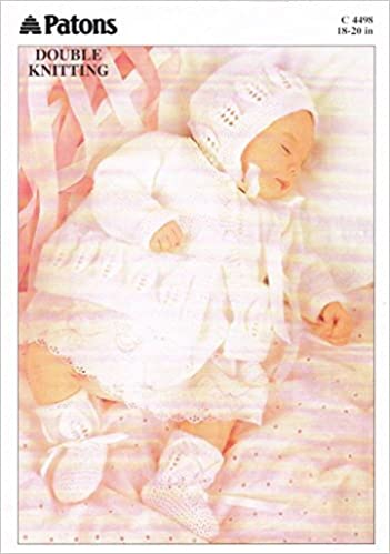 Patons Knitting Pattern Dk Baby Matinee Coat Bonnet And Bootees
