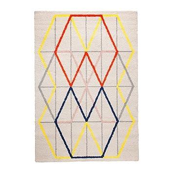 Teppich ikea bunt  IKEA PS 2014 Teppich Kurzflor, bunt 133x195 cm, großer Teppich ...