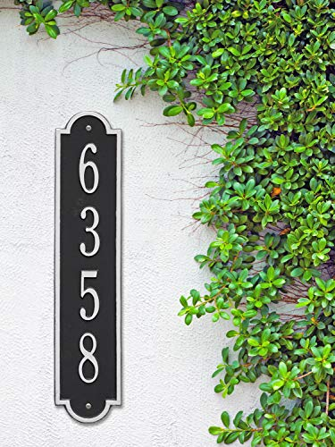 The Richmond Vertical Address Plaque. Personalized Cast Metal Sign. 11 Colors Available! Custom House Numbers by Metal Address Sign (Image #5)