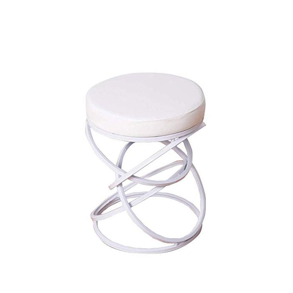 C LUHEN Home Creative Footstool, Stylish Stool Bar Cafe Single Footstool, Three colors Optional (color   A)