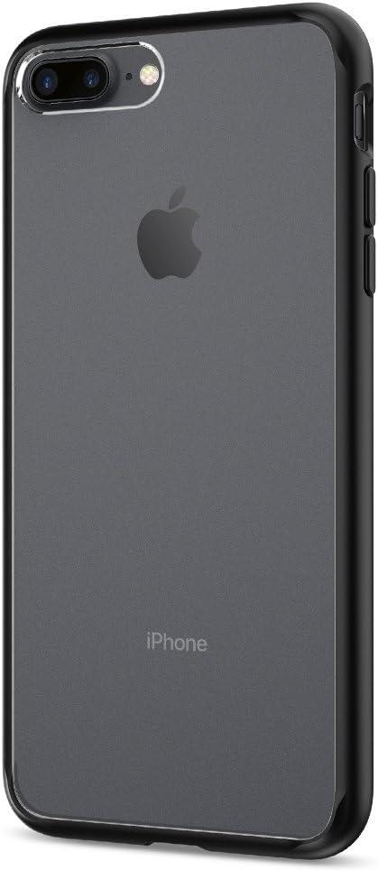Spigen Funda iPhone 7 Plus, [Ultra Hybrid] Air Cushion [Negro] Clear Back Panel + TPU Bumper Funda Carcasa para iPhone 7 Plus (2016) - (043CS20550)