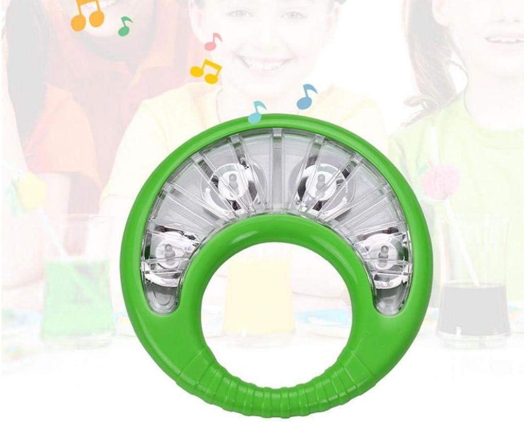 Tambourin avec Clochettes en Plastique /À La Main Cloche Musicale Percussion Jouet Main Tambourin Jouet Enfants Cloches Tambourin Main en Plastique Orff Instruments pour Les Enfants Vert