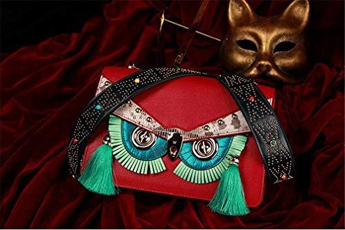 Trapa5 largebag Mano Originale Donna Accessori sided Design Sostituibile jaycel Fashion Gufo Pelle Messenger Catena Borsa Piccolo Ginny In Double A Bag Sacchetto Mucca qgFwBg1