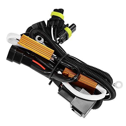 HID Anti-Flicker Load Resistor Relay Harness H1/H8/H9/H11/9005 9006/9140/9145