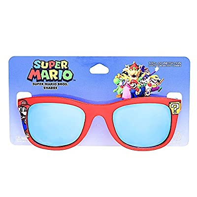 Costume Sunglasses Mario Red Frame Blue Lens Arkaid Party Favors UV400: Toys & Games