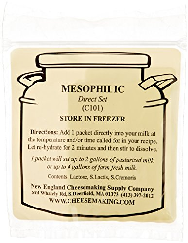 Cheddar Cheese Making - Mesophilic Direct Set Cheese Culture, 5-Pack