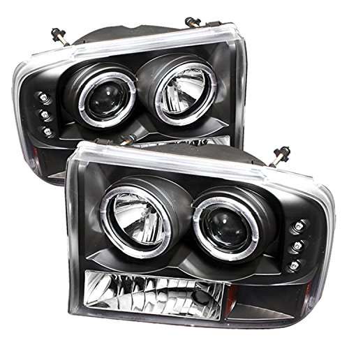 Super Duty Projector Headlamps - Spyder Auto Ford F250/F350 Super Duty/Ford Excursion Black Halogen LED Projector Headlight
