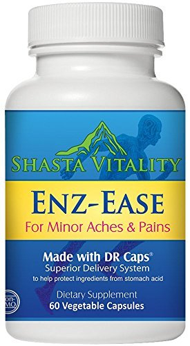 Standardized Claw Devils Extract (Enz-Ease Advanced Pain Relief Joint & Muscle Pain Formula- Potent Herbal Extracts and Systemic Enzymes for Aches and Pains from Overexertion or Exercise Helps Flexibility. NON-GMO Vegetarian 60 caps)