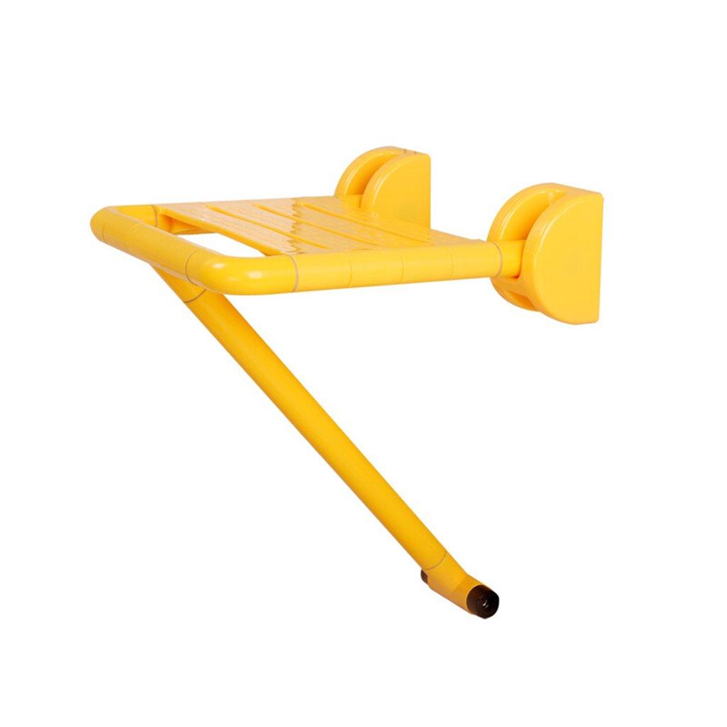折りたたみ式シャワースツール、折りたたみ式ノンスリップ防水使用安全なバスルームシャワースツール白、黄色 ( 色 : イエロー いえろ゜ ) B078YJWJ33 イエロー いえろ゜ イエロー いえろ゜