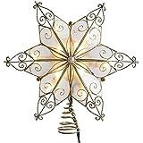 Kurt Adler UL3131 10-Light 6 Pt. Capiz Star Treetop