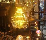 Romantic Retro Starlight Edison Bulb, Diamond Shaped LED Bulb,2W,2200K Warm Yellow (White Glass), LED Filament (dimmable)