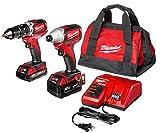 Milwaukee 2799-22CX M18 Cmpt Brushless Hammer Drill Impact Kit