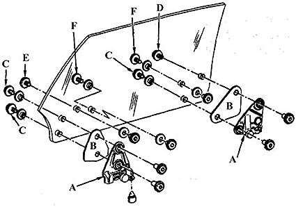 1968 Camaro Door Glass Diagram