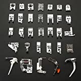Aeroway 32pcs Domestic Sewing Machine Presser Foot Set For Janome Brother Singer NewHome
