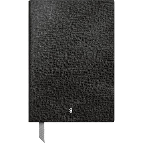Montblanc Notebook Black Squared #146 Fine Stationery 113637 / Elegant Journal with Leather Binding and Quadrille Pages / 1 x (5.9 x 8.2 in.)