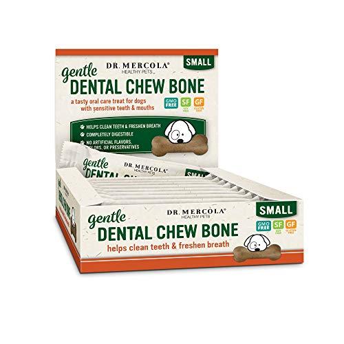 Dr. Mercola Gentle Dental Chew Bones Small, 12 Bones, Non GMO, Gluten Free, Soy Free