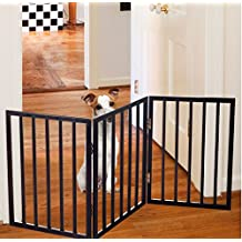 Espresso Metal/Wool Easy-Up Free Standing Folding Gate, 18 To 53 Inches Widex24 Inches High