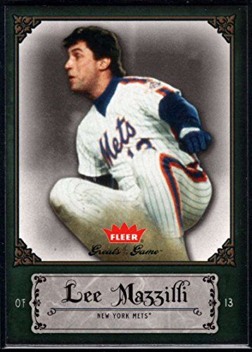 Baseball MLB 2006 Fleer Greats of the Game #58 Lee Mazzilli Mets