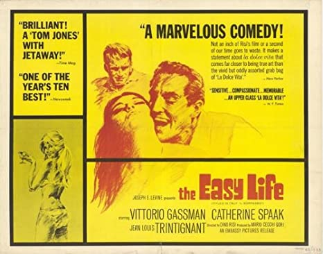 Amazon.com: Póster de The Easy Life de 22.0 in x 28.3 in (1965) de media  hoja (Vittorio Gassman (Catherine Spaak) (Jean-Louis Trintignant) (Luciana  Angiolillo): Everything Else