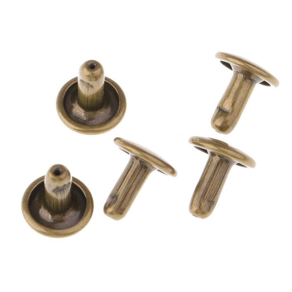 Baoblaze 200 Leder Nieten Doppelkappe Nieten Ziernieten Druckkn/öpfe 8mm 6mm f/ür Leder Handwerk Reparieren Dekoration