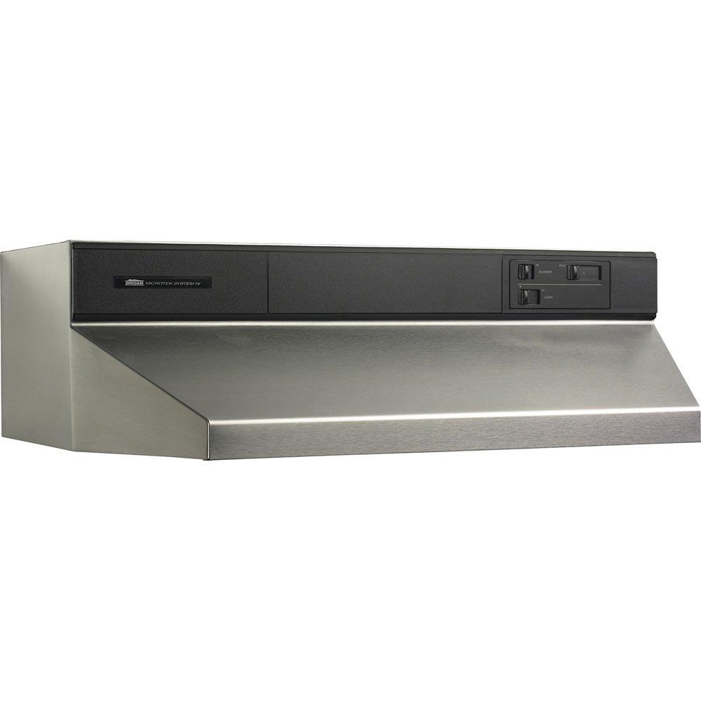 Broan Contemporary Under Cabinet Range Hood 48 Inch Stainless Steel Ne