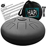 HAPI HDSLIMCMJ Steel Tongue Percussion Hand Drum - C Major with FREE padded travel bag