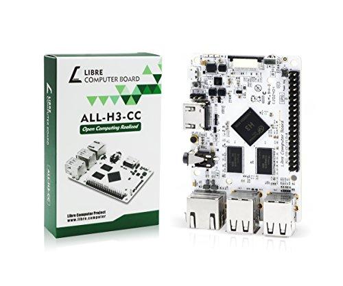 Libre Computer Board ALL-H3-CC H3 1GB (Tritium) Mini Computer with Upstream Free Open Source Software Support