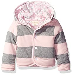 Burt\'s Bees Baby Girls\' Organic Reversible Snap Front Jacket, Blossom, 24 Months